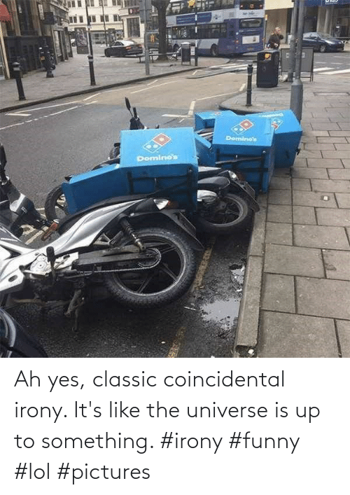 Funny, Lol, and Irony: Ah yes, classic coincidental irony. It's like the universe is up to something. #irony #funny #lol #pictures