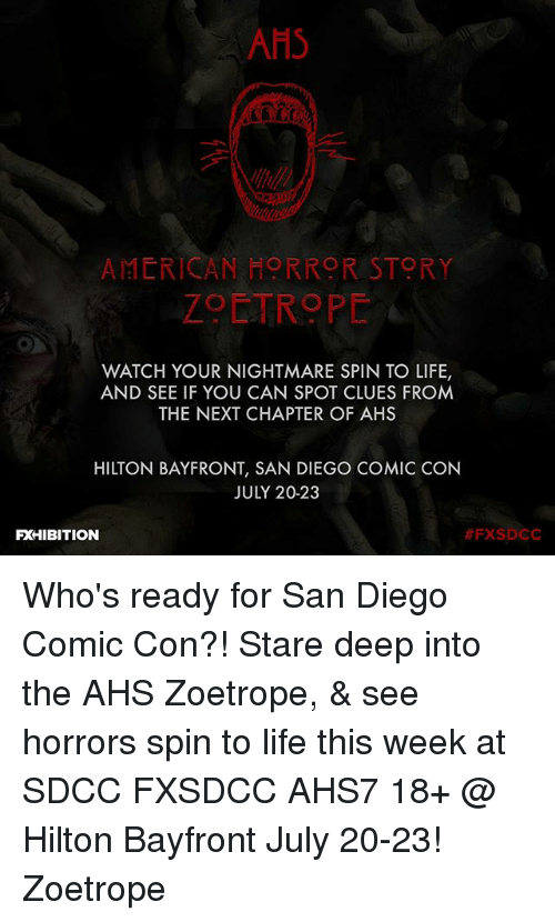 a9c26b1a6271 AHS AMERICAN HORROR STORY ZOETROPE WATCH YOUR NIGHTMARE SPIN TO LIFE ...