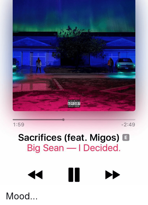 Image result for Big Sean Sacrifices