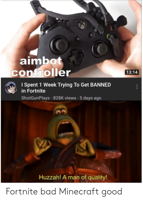 Aimbot Controller 1314 ISpent 1 Week Trying to Get BANNED in