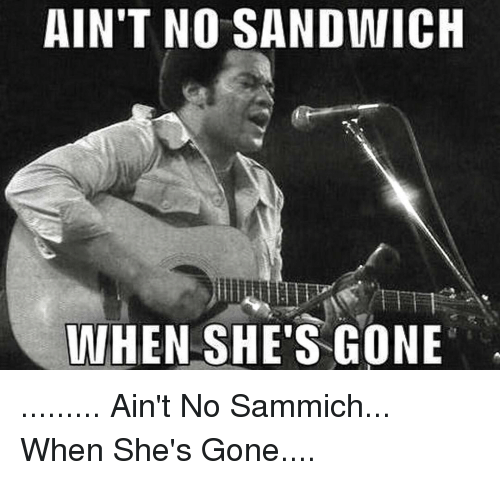 Aint No Sandwich When Shes Gone Aint No Sammich When Shes Gone