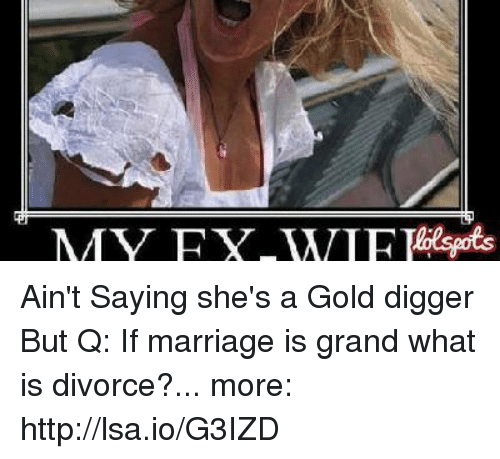Gold digger divorce