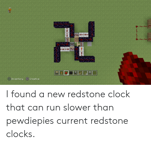 AInventory OCreative I Found a New Redstone Clock That Can