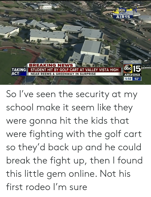 AIR15 BREAKING NEWS TAKING STUDENT HIT BY GOLF CART AT