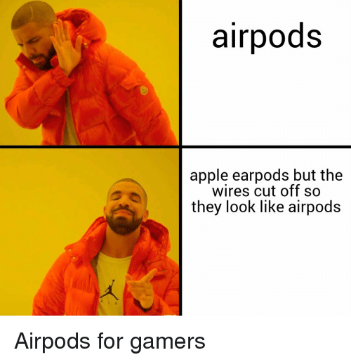 Airpods Apple Earpods but the Wires Cut Off So They Look