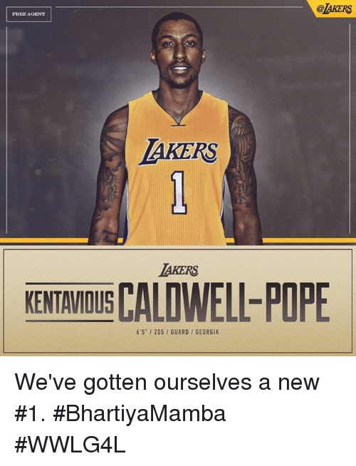 Memes, Pope Francis, and Free: @AKERS  FREE AGENT  AKERS  AKERS  KENTAVIOUS CALD  KENTAMOIS CALDWELL-POPE  6'5-1 205 , GUARD / GEORGIA We've gotten ourselves a new #1.  #BhartiyaMamba #WWLG4L