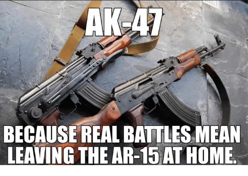 AKLAT BECAUSE REAL BATTLES MEAN LEAVING THE AR-15 ATHOME