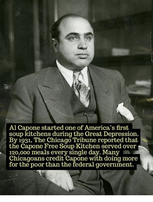 Al Capone Started One of America\'s First Soup Kitchens During the ...