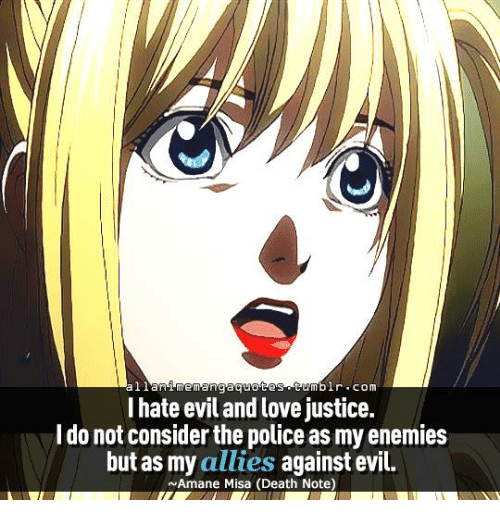 Al Lan Memanga Quotes Tumblr Com I Hate Evil And Love Justice Do Not