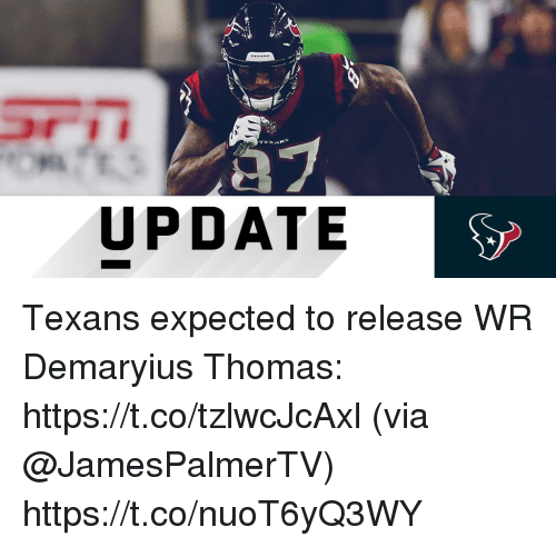Memes, Texans, and Demaryius Thomas: Al  UPDATE Texans expected to release WR Demaryius Thomas: https://t.co/tzlwcJcAxl (via @JamesPalmerTV) https://t.co/nuoT6yQ3WY