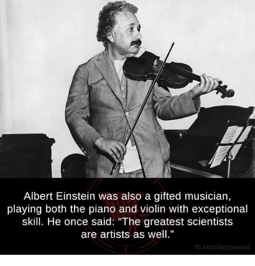 albert einstein was also a gifted musician playing both the plano