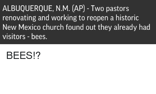 ALBUQUERQUE NM AP Two Pastors Renovating and Working to