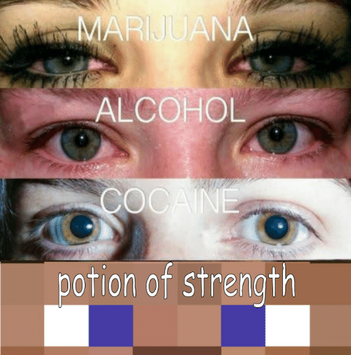 Alcohol, Strength, and Potion: ALCOHOL  potion of strength
