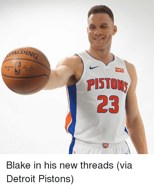 Detroit, Detroit Pistons, and Pistons: ALDIN  PISTON  23 Blake in his new threads (via Detroit Pistons)