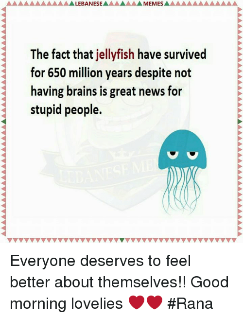 brains facts and love alebanese memesa the fact that jellyfish have survived for