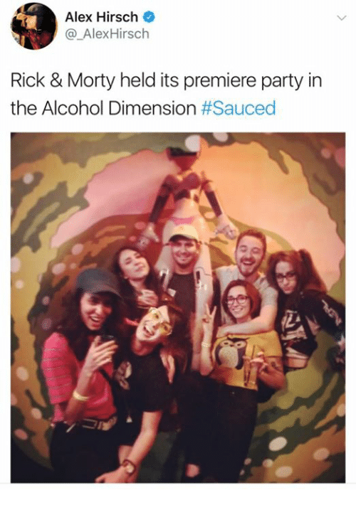 Alex Hirsch Rick & Morty Held Its Premiere Party in the