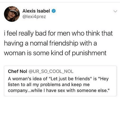 Lets just be friends after hookup