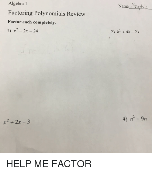 algebra 1 review polynomials Algebra 1 is the second math course in high school and will guide you through among other things expressions, systems of equations, functions, real numbers, inequalities, exponents, polynomials, radical and rational expressions.