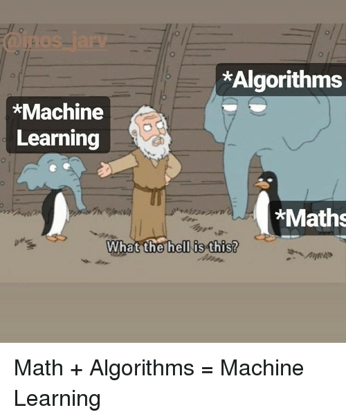 Algorithms *Machine Learning *Maths What the Hell Is This