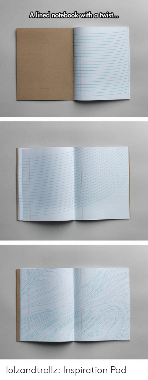 Notebook, Tumblr, and Blog: Alined notebook with a twist.c. lolzandtrollz:  Inspiration Pad