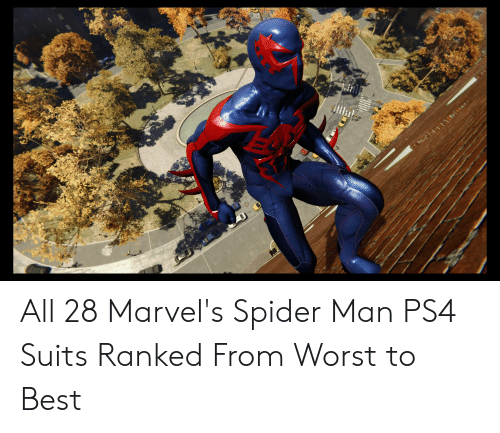 All 28 Marvel's Spider Man PS4 Suits Ranked From Worst to
