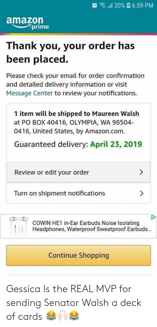 5413cb31d1b16 All 30% 659 PM Amazome Prime Thank You Your Order Has Been Placed ...