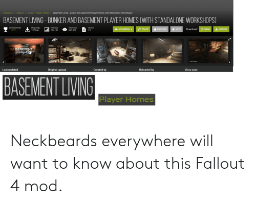 All Games Fallout 4 Mods Player Homes Basement Living