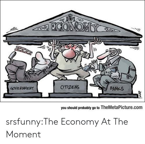 Tumblr, Banks, and Blog: all  GOVERNMENT  CITIZENS  BANKS  you should probably go to TheMetaPicture.com srsfunny:The Economy At The Moment