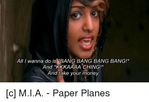 M.I.A. - Paper Planes (Official Music Video) - YouTube