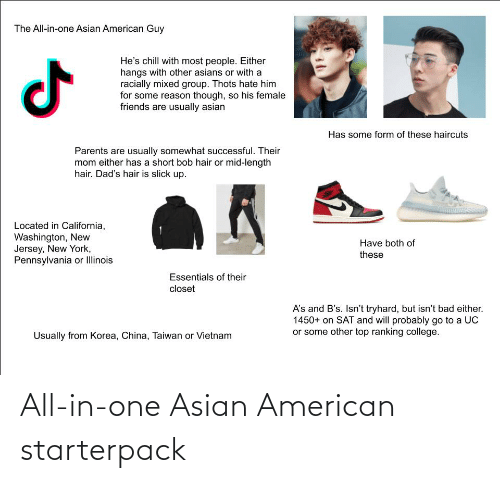 Asian, Starter Packs, and American: All-in-one Asian American starterpack