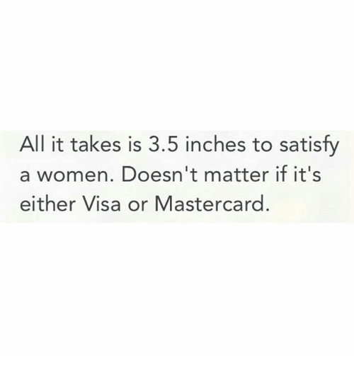 How many inches satisfy a woman