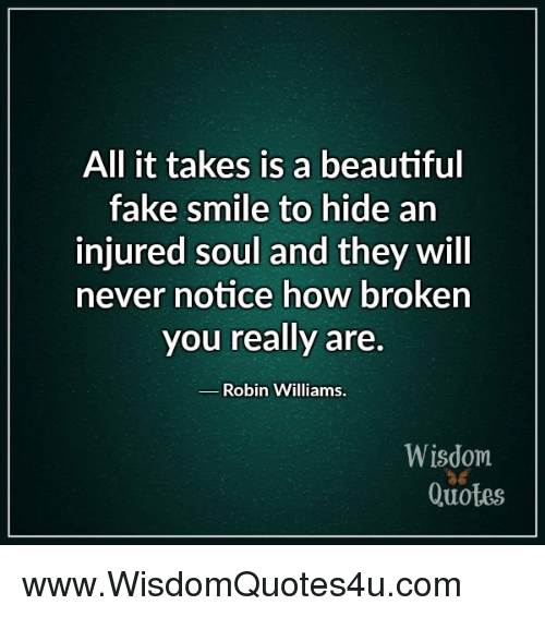 All It Takes Is a Beautiful Fake Smile to Hide an Injured ...