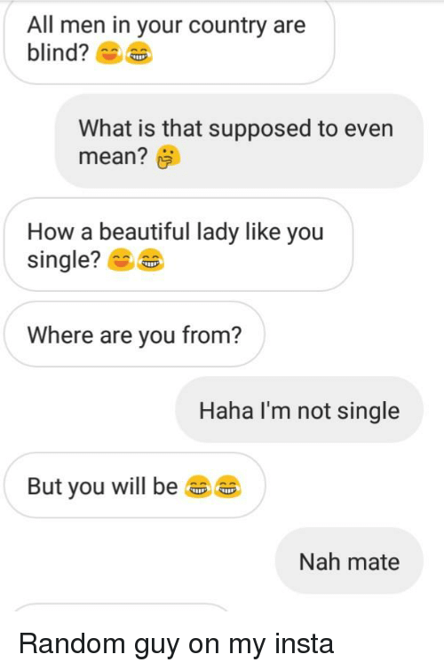 single country men