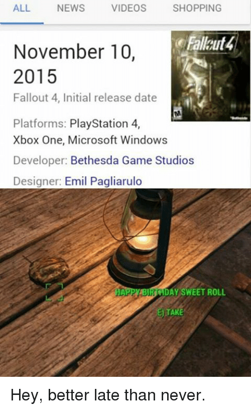 Dating Fallout 4
