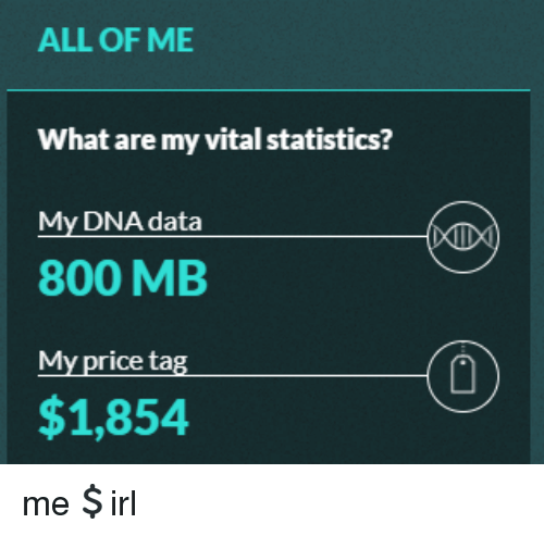 ALL OF ME What Are My Vital Statistics? My DNA Data 800 MB