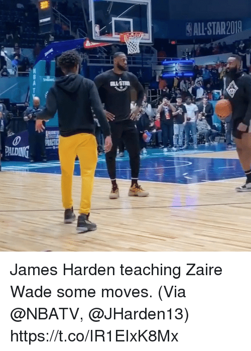 James Harden, Memes, and Teaching: ALL STAR201 James Harden teaching Zaire Wade some moves.   (Via @NBATV, @JHarden13)  https://t.co/IR1EIxK8Mx