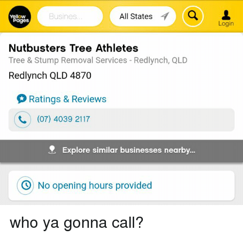 fea3d12905c All States a Busines Yellow Pages Nut Busters Tree Athletes Tree ...