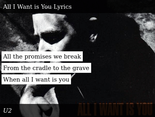 All the Promises We Break From the Cradle to the Grave When