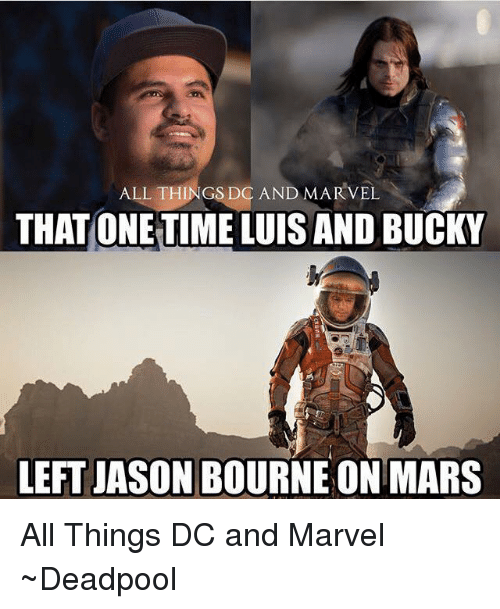 All Things Dc And Marvel That One Timeluis And Bucky Left Jason