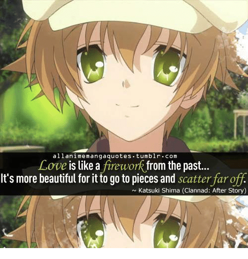 Alla Nime Manga Quotes Tumblr Com Love Is Like A Firework From The