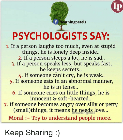 Allearningpetals Psychologists Say 1 If A Person Laughs Too Much