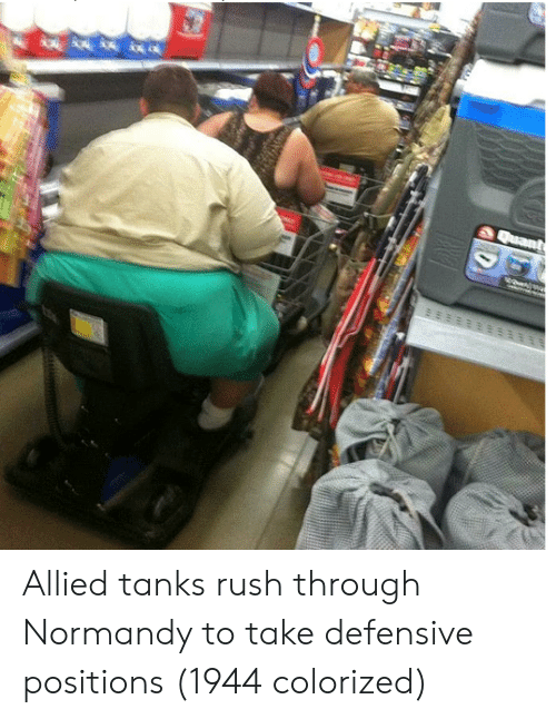 Rush, Tanks, and Normandy: Allied tanks rush through Normandy to take defensive positions (1944 colorized)