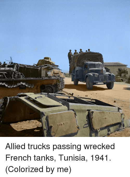 French, Tunisia, and Tanks