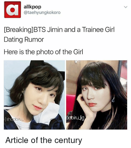 Bts jimin dating trainee