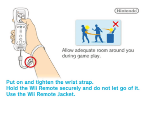 Allow Adequate Room Around You During Game Play Put On And Tighten