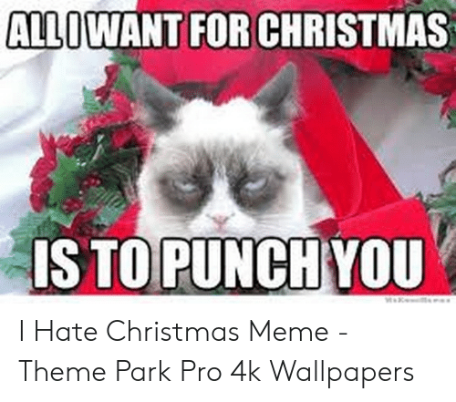 I Hate Christmas.Allowant For Christmas Is To Punch You Waxe I Hate Christmas