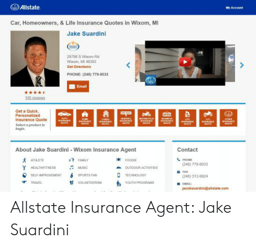 Allstate My Account >> Allstate My Account Car Homeowners Life Insurance Quotes In Wixom