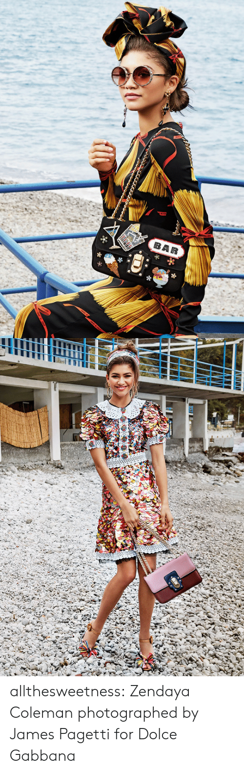 Target, Tumblr, and Blog: allthesweetness:  Zendaya Coleman photographed by James Pagetti for Dolce  Gabbana