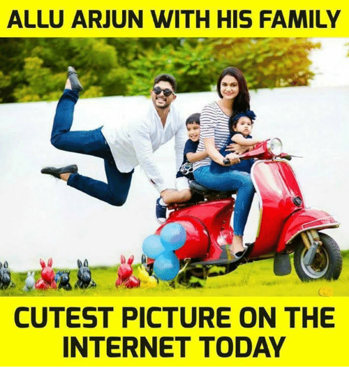 ALLU ARJUN WITH HIS FAMILY CUTEST PICTURE ON THE INTERNET TODAY