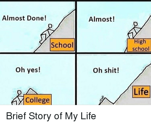 College, Life, and School: Almost Done!  Almost!  High  school  School  oh yes!  Oh shit!  Life  College Brief Story of My Life